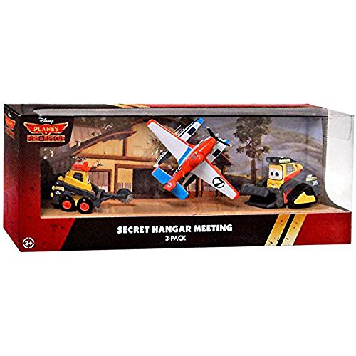 (DISNEY PLANES FIRE & RESCUE SECRET HANGER MEETING SET.BLACKOUT,DRIP & PONTOON DUSTY)