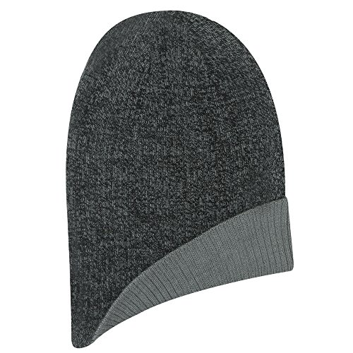 Jacob Cap Reversible Ash (Igloos Men's 4-in-1 Lightweight Marled Slouch Beanie, Monument/Anthracite, One Size)