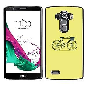 LECELL--Funda protectora / Cubierta / Piel For LG G4 -- Amarillo Verde Hipster Verde --