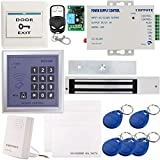 UHPPOTE Full Complete 125KHz RFID Card Outswinging Door Access Control Kit Including 600lbs Force Electric Magnetic Lock, Mag-lock with UL-Listed