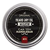 Wisdom Beard Dry Oil | Natural Balm, Woodsy Scent | 2 OZ by CanYouHandlebar