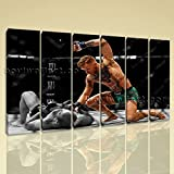 Large Mcgregor Conor Boxing Wall Decor Painting On Canvas Living Room Print, Large boxing Wall Art, Living Room, Bright Turquoise