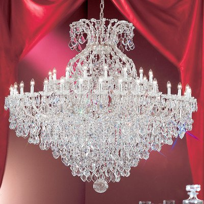 4. Maria Thersea 49 Light Chandelier Crystal Type: Swarovski Elements, Finish: Olde World Gold