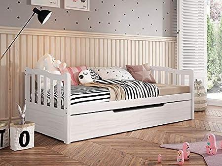 Ideal para dormitorio juvenil, admite colchón inferior máximo 18 cm y superior máximo 20 cm,Contiene