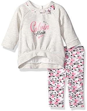 Baby Girls' Fleece Tunic with Leggings Set