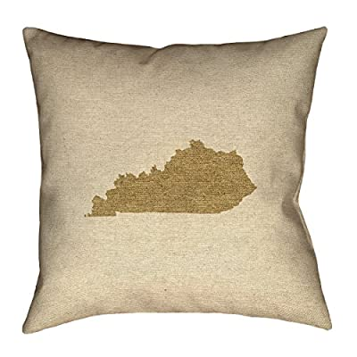 "ArtVerse Katelyn Smith Kentucky Canvas 18"" x 18"" Pillow-Spun Polyester Double Sided Print with Concealed Zipper Cover Only"