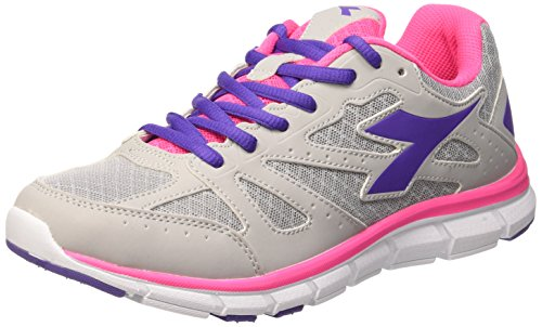 Adulte Diadora Basses Mixte Baskets Shocking rosa Gris Argento 4 Hawk w7xgf4FA