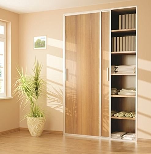 Sliding Wardrobe 3 Door 2000mm Twin Track Gear System ARES 2 Roller Internal Cupboard 70kg by Rothley -