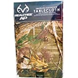 Design Imports Realtree AP PEVA Vinyl Tablecloth Flannel Backed Camouflage Print Indoor Outdoor 52-Inch by 90-Inch
