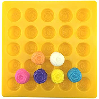 Amazon.com: Rose Yellow Soft Candy Rubber Flexible Mold: Candy ...