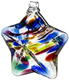 Kitras Wishing Star Art Glass, Festive/Multi