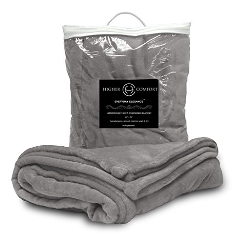 Higher Comfort Oversized Luxuriously Soft Throw Blanket - Glorious Gray - 60