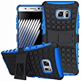 DMG Rugged Hard Back Cover Kickstand Armor Case for Samsung Galaxy Note 7 (Blue)