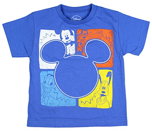 Disney Boy's Mickey Mouse and Friends Square Pop Youth T-Shirt (SM, 4)