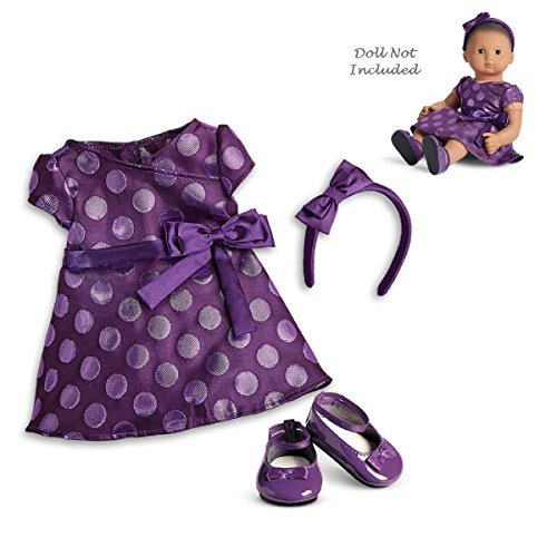 "American Girl Bitty Baby Polka Dot Holiday Dress for 15"" Dol"