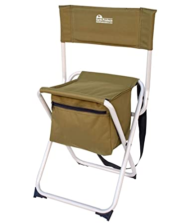 chair with storage. earth products take it anywhere compact outdoor fishing chair with storage pocket s