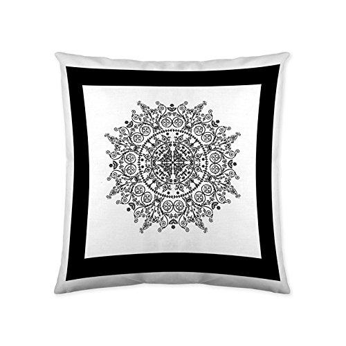 Funda de cojín sin relleno MANDALA FRAME 50 x 50 cm blanco ...