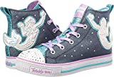 Skechers Kids Girls' Twinkle Lite-Magnificent Merm Sneaker, Denim/Multi, 4 Medium US Big Kid