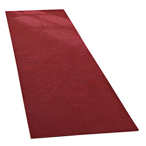 "Collections Etc Extra Wide Extra Long Skid-Resistant Floor Runner Rug, for Hallways, Kitchens and Entryways, Brick, 28""X90"""