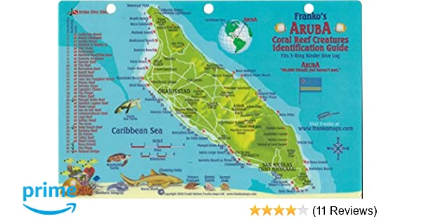 Aruba Dive Map & Reef Creatures Guide Franko Maps Laminated ...