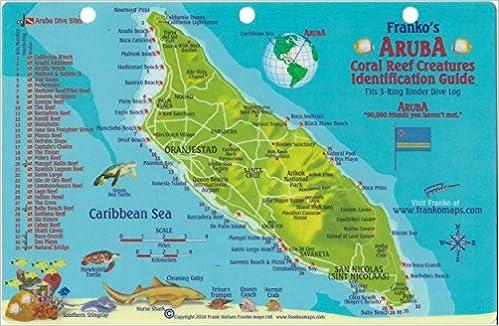 Aruba Dive Map Reef Creatures Guide Franko Maps Laminated Fish