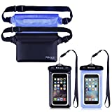 Waterproof Phone Pouch with Waist Strap | Best Way to Keep Your Phone and Valuables Safe and Dry | Perfect for Fishing Camping Beach Kayaking Surfing Swimming Running Boating