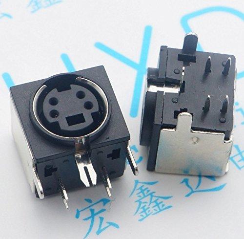 (Gimax 40pcs PS2 socket 4P Convex health bezel socket Convex PS-2 Keyboard socket PS2 mouse interface socket)
