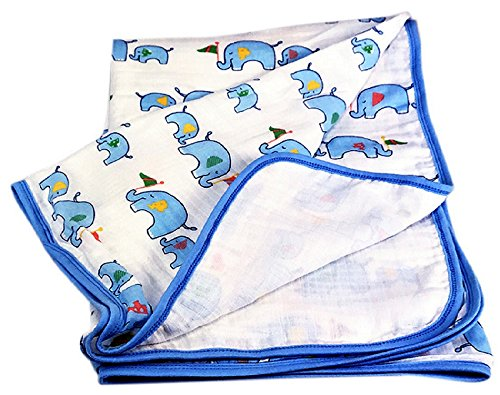 Two Layers Breathable Muslin Baby Blanket. Soft Cotton Crib Blankets. A Baby Shower, Holiday, Christmas - Quilted Muslin
