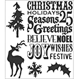 Stampers Anonymous Tim Holtz Cling Rubber Stamp Set, Seasons Silhouettes