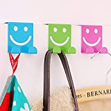 UXTIS Creative Seamless Smiley Z-hook Home Space-saving Hooks Closet Organizer (Random Color)