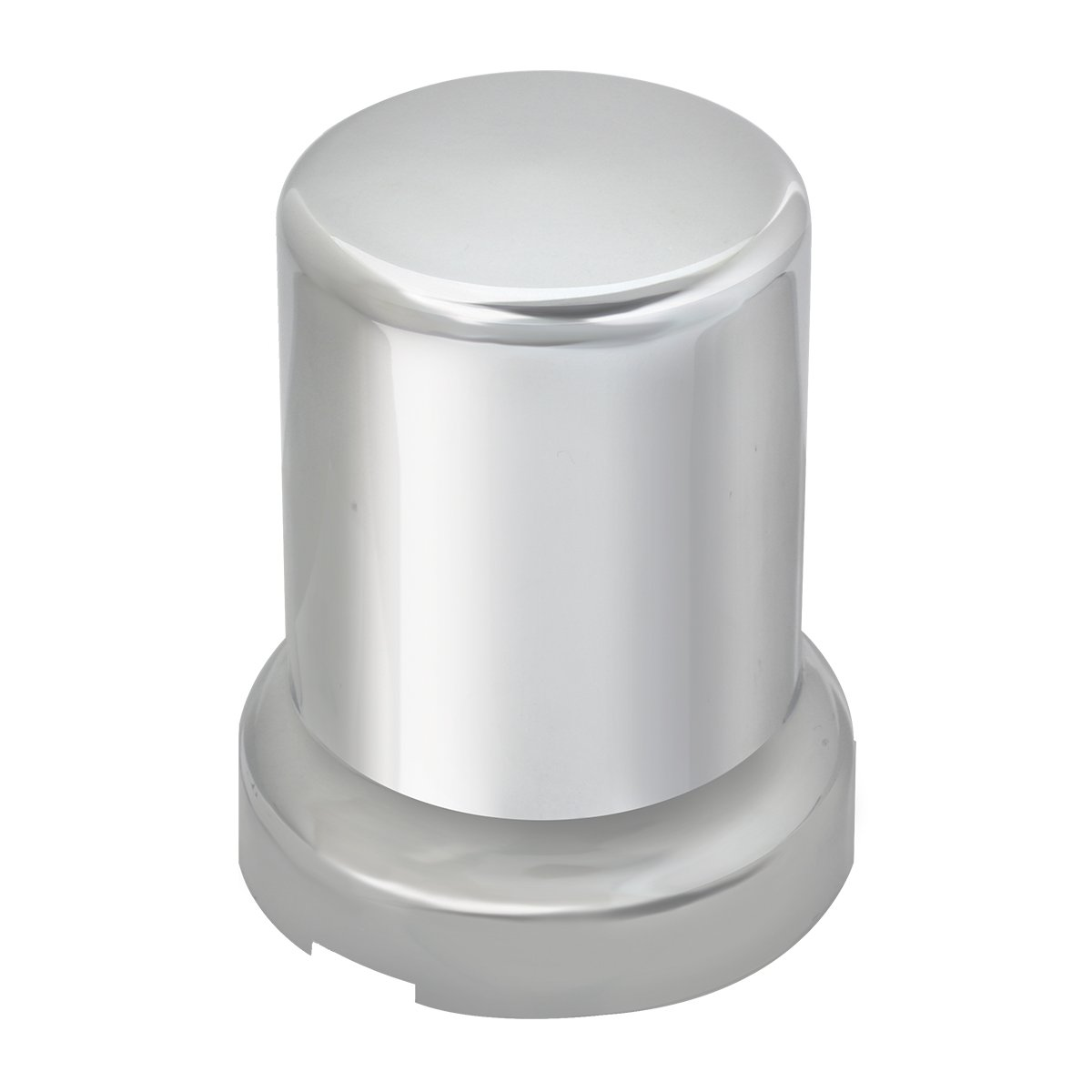 Grand General 10275SP Chrome 33mm x 2-5//8 Plastic Push-On Nut Cover with Flange and Stainless Steel Clips