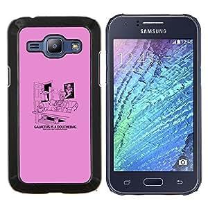 LECELL--Funda protectora / Cubierta / Piel For Samsung Galaxy J1 J100 -- Galactus Ducha divertido --