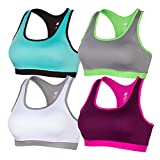 #9: X31 Sports Womens Racerback Sports Bra, High Impact, Padded For Running, Workout