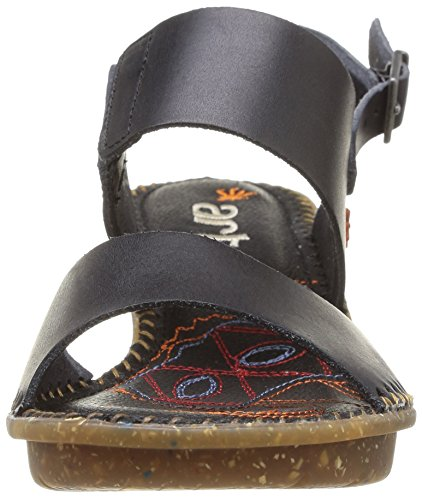 Sandalias Negro cuero vestir Negro para mujer VENICE de de ART CU5p4w
