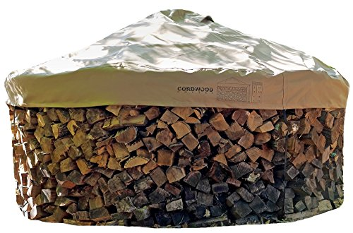 - Firewood Cover and Base - Store Wood logs Without a Rack. Includes Base Template and Cover with Integrated Hold Down Straps