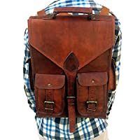 Last DAY - SALE Clearance 2019! Shakun Leather Handmade Vintage College Backpack Shoulder Tracking Sling Weekend Bag, One size, Free Shipping