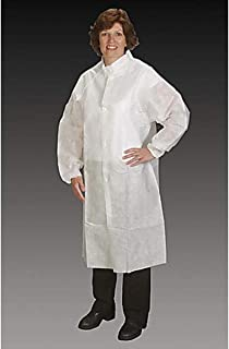 product image for Alpha Pro Tech FK-62121-6 Critical Cover NuTech Frock with Raglan Sleeves, Elastic Wrist, Snap Collar, Snap Close, Surged Seams, 2XL/3XL (Pack of 25)