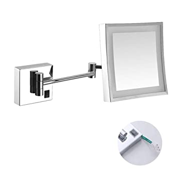 Specchio Per Trucco Da Parete.Mrj Specchio Ingranditore Da Trucco Con Luce Led Specchio Trucco Da