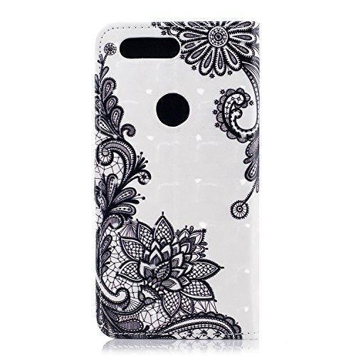Funda con Tapa para OnePlus 5T, Vandot 3D Creativa Diseño de Flamenco Pintado Impresión Estuche Carcasa Premium PU Cuero Magnético Flip Case Cover con Función de Soporte y Ranuras para Tarjetas Caja d CHPT-4