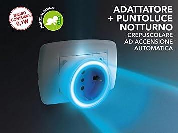 Adattatore con punto luce notturno crepuscolare ad accensione automatica Poly Pool PP2230.9