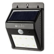 OxyLED SL30 Bright Solar Powerd Wireless 8 LED Security Motion Sensor Light Sensor Light, Outdoor Solar Lights / Wall Lights / Path Lights / Night Light / Garden Lamp/Motion Sensor-Detector Activated/for Garden, Patio, Shed, Stair, Street, Courtyard, Garage