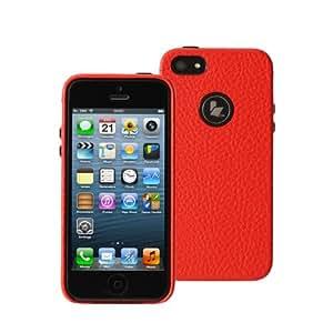 Jisoncase Elegant Slim Fit Case for iPhone 5 - Retail Packaging - Red