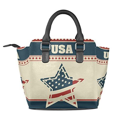 fa02736caf Coosun Women Patriot Background Borsa A Tracolla In Pelle Con Tracolla In  Vera Pelle ...