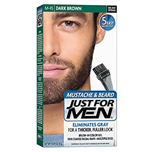 Amazon.com : Brush in Color Gel For Mustache And Beard Dark Brown ...