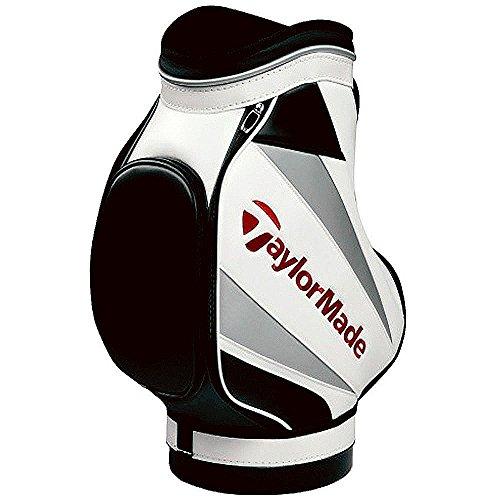 TaylorMade Den Caddie Bag, White/Black/Red