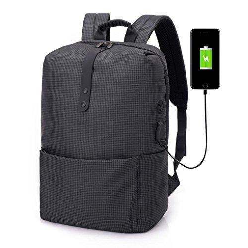 ad Alta Casual per Zaino Borsa Moda Ricarica USB Moda Sonnena Zaino Capacità di ad da A Nero Multifunzionale di Alta Capacità furto Anti di Zaino Schoolbag Donna Laptop Moda 4AAdSqrw