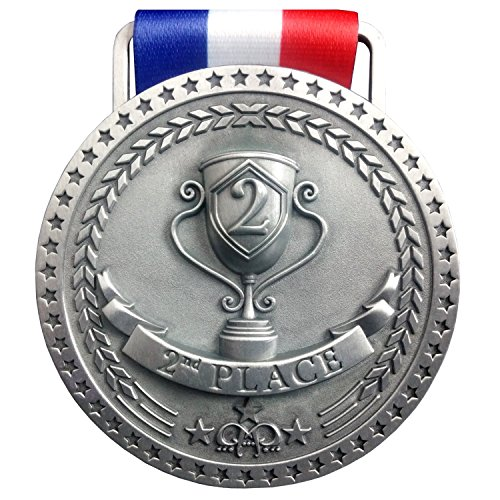 2nd Place Winner Silver Award Medal, Antique Silver