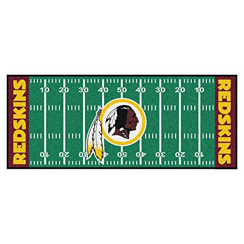 FANMATS NFL Washington Redskins Nylon Face Football Field Runner