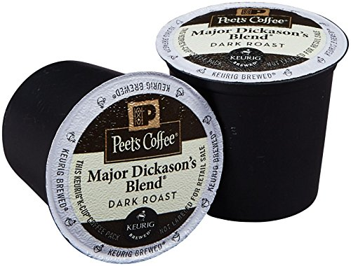 Peet's Major Dickason's Blend for Keurig K-Cup Brewers, Deep Roast 60 count. (Peets French Roast Coffee K Cups compare prices)