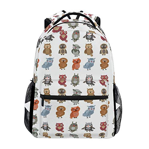 Fashion Leisure Owls Set Backpack for Girls School Backpack Women Travel Satchel Print Backpack